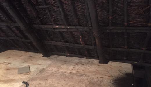 【素人×古民家DIYリノベーション】屋根裏の床に構造用合板を敷きました。