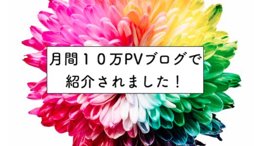 月間10万PVの地方移住ブロガー・はまちゃんのブログで紹介していただきました!